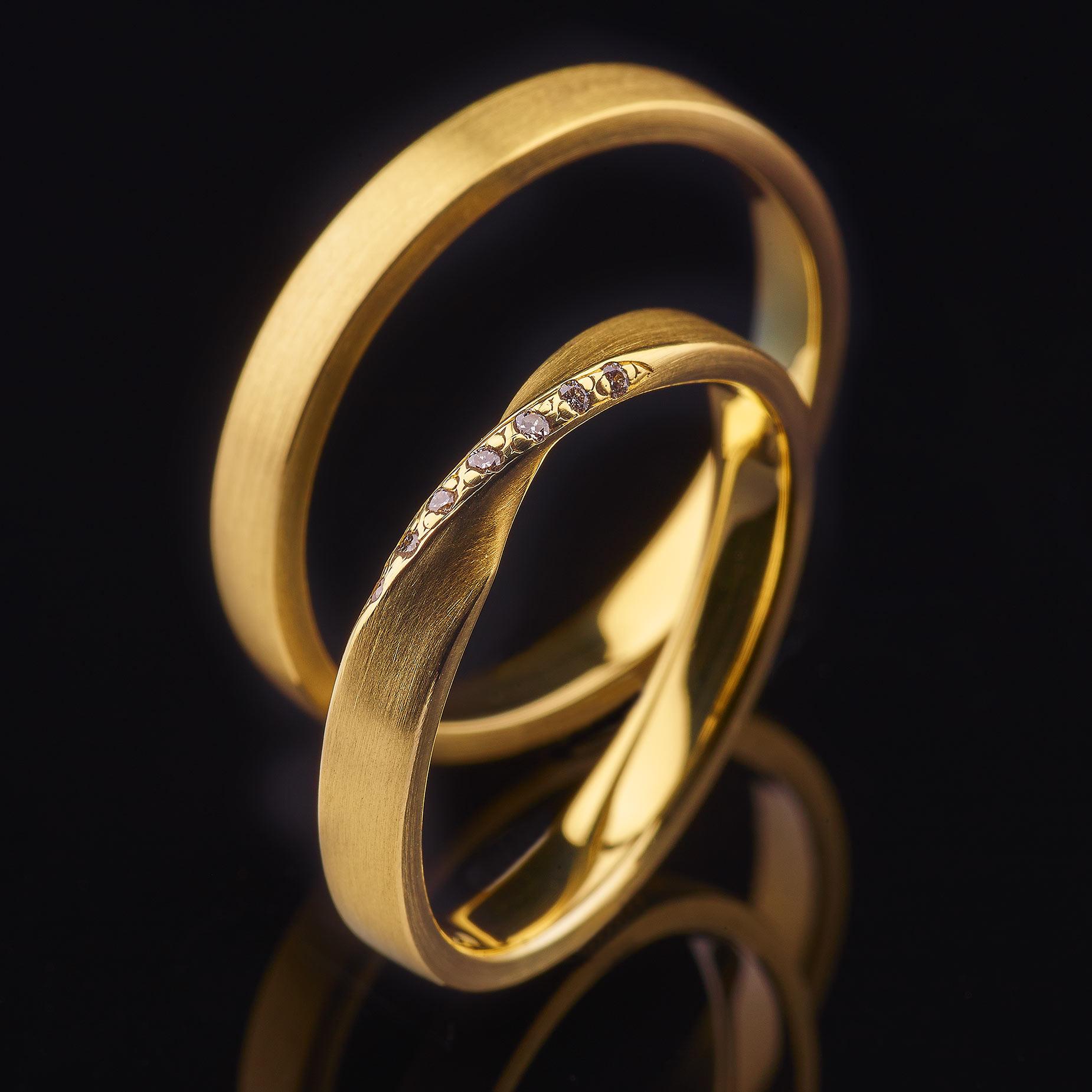Ringe 585/000 Gelbgold, 950/000 Palladium, Brillanten, Schmuck, Hochzeitsringe, Trauringe, Eheringe, Verlobungsringe, Schweinfurt, Bamberg, Coburg, Unterfranken, Bayern